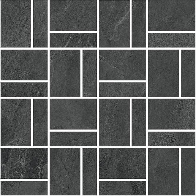 T021/DD2039   Декор Про Слейт антрацит мозаичный