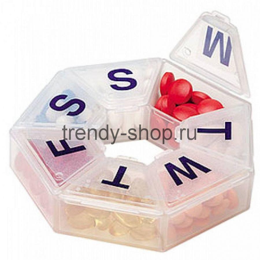 Органайзер для хранения таблеток/витаминов PILL BOX (Таблетница)