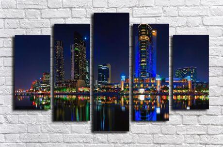 Модульная картина город 62
