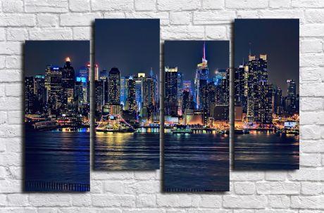 Модульная картина город 68