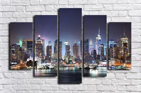 Модульная картина город 83