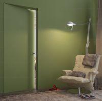 Дверь ПОД ПОКРАСКУ ВНУТРЕННЕГО открывания дверь невидимка. Высота от 2000 до 2300 в наличии!