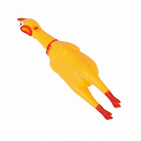 Виниловая игрушка-пищалка для собак Орущая Курица, 32 см