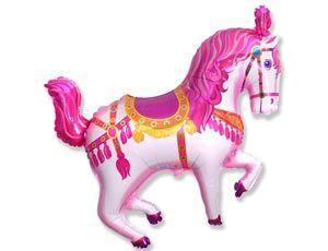 Шар ФИГУРА/11 Лошадь цирковая розовая/FM 107*80 см