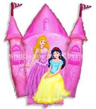 Шар ФИГУРА/11 Принцессы и Замок розовый/FM 87*78 см