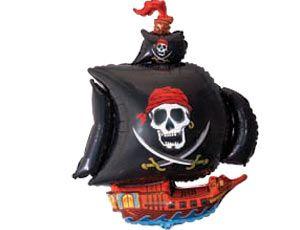 Шар ФИГУРА/11 Корабль пиратский черный/FM 56*98 см
