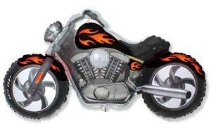 Шар ФИГУРА/11 Мотоцикл черный/FM 57*115 см