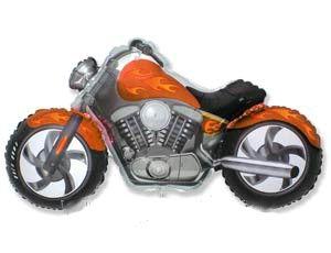 Шар ФИГУРА/11 Мотоцикл оранжевый/FM 57*115 см