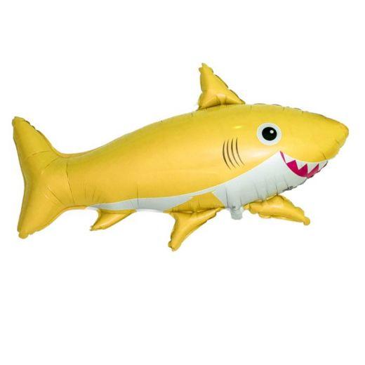 Шар ФИГУРА/11  Акула веселая желтая/FM 75*105 см