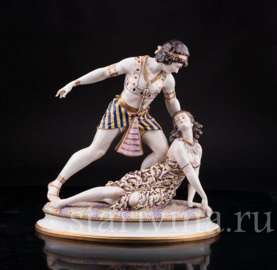 Изображение Михаил и Вера Фокины в балете Клеопатра (Египетские Ночи), Volkstedt, Германия, нач. 20 в.