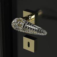 Ручка Glass Design Luxor. латунь полированная/прозрачный кристалл