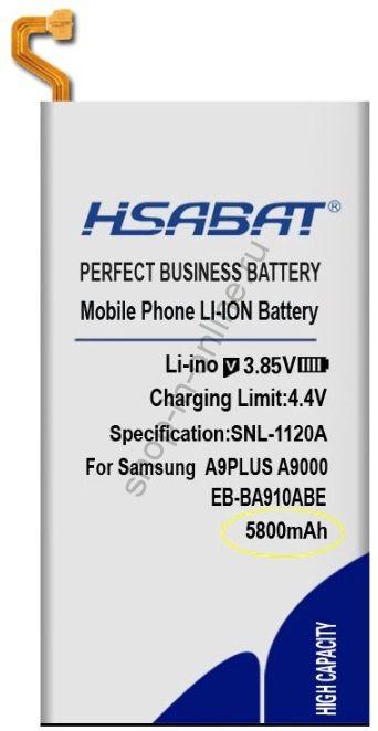 Аккумулятор EB-BA910ABE 5800 мАч