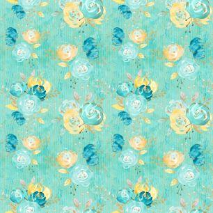Хлопок Перкаль Мятные цветы 50х37