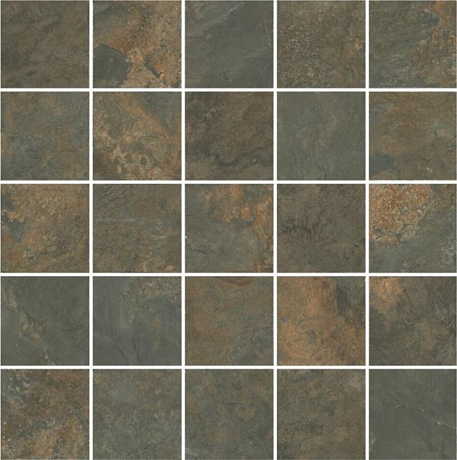 MM12132 | Декор Рамбла коричневый мозаичный