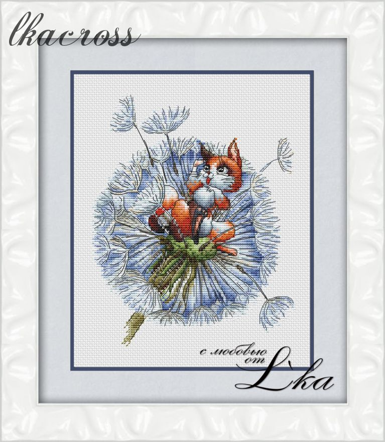 """Little foxy"". Digital cross stitch pattern."
