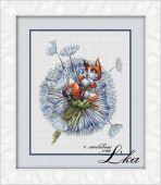 """""""Little foxy"""". Digital cross stitch pattern."""