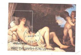 500 лет со дня рождения Тициана Болгария 1986  Блок157235