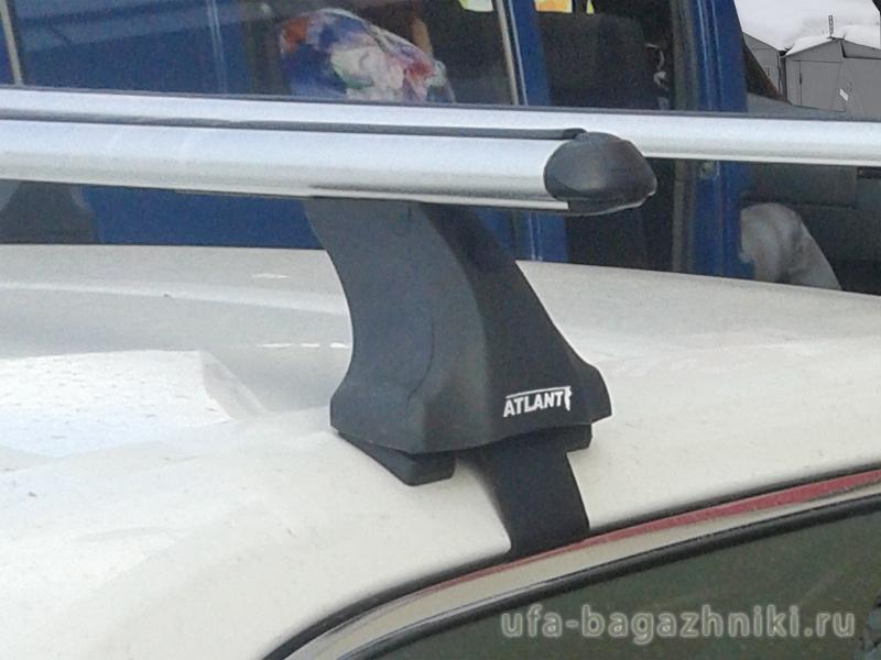 Багажник на крышу Toyota Camry XV50 2012-..., Атлант: аэродинамические дуги и опоры типа Е