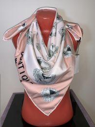 Шелковый платок Moschino (розовый, арт. 046