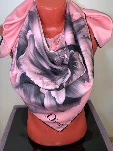 Шелковый платок Christian Dior (розовый), арт. 038