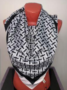 Шелковый платок Burberry черно-белый, арт.  032
