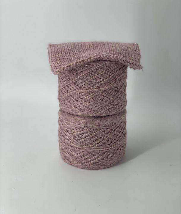 Микс с ангорой, пыльно-розовый