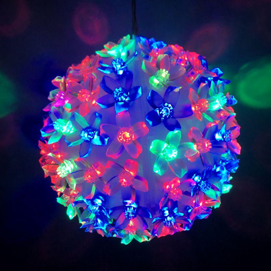 Эксклюзивный Светодиодный led  Шар С Насадками В Виде Цветов led light