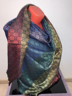 Большой платок с люрексом Gucci (черный), арт.022