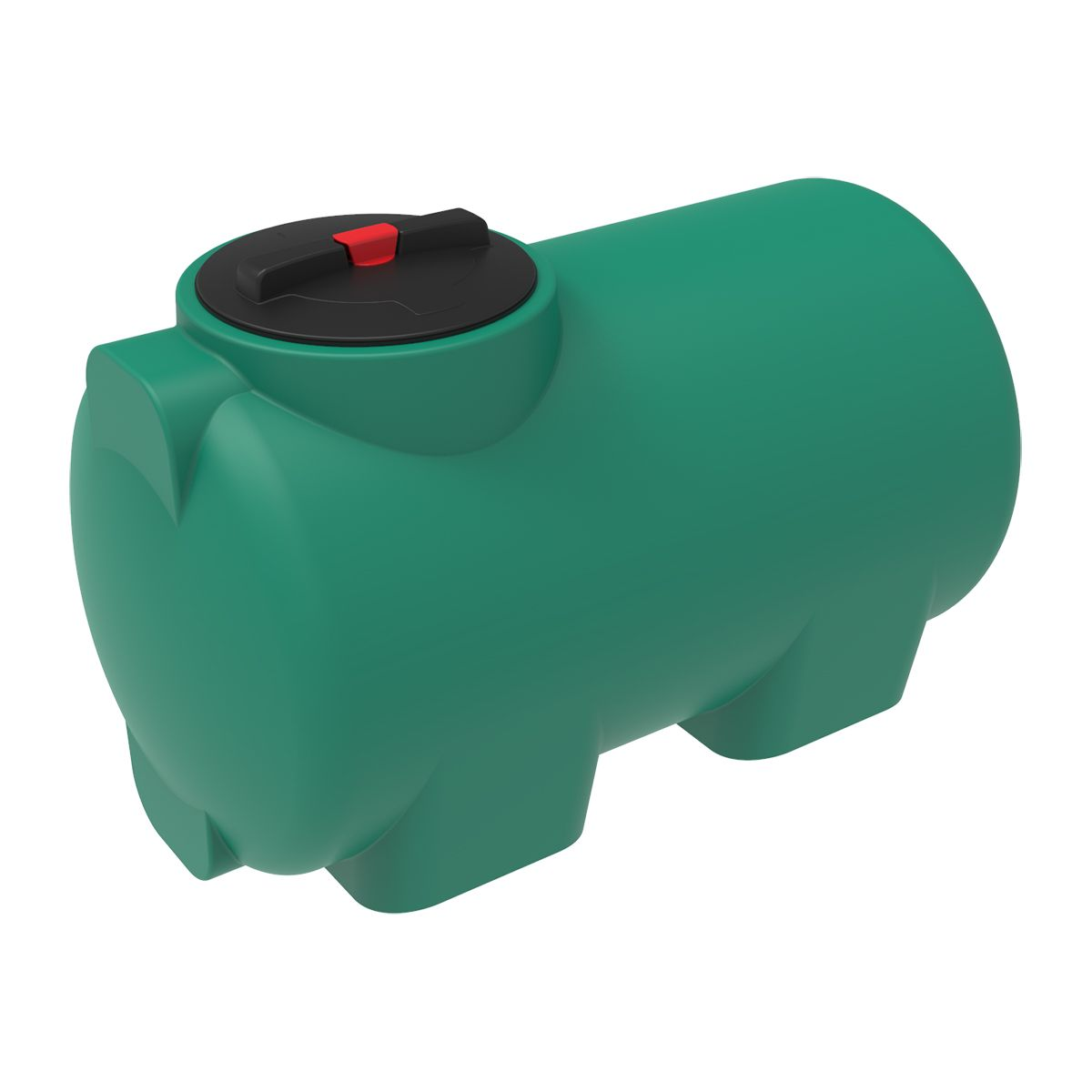 Емкость H 300 литров зеленая пластиковая