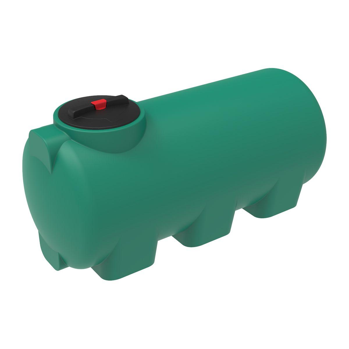Емкость H 500 литров зеленая пластиковая