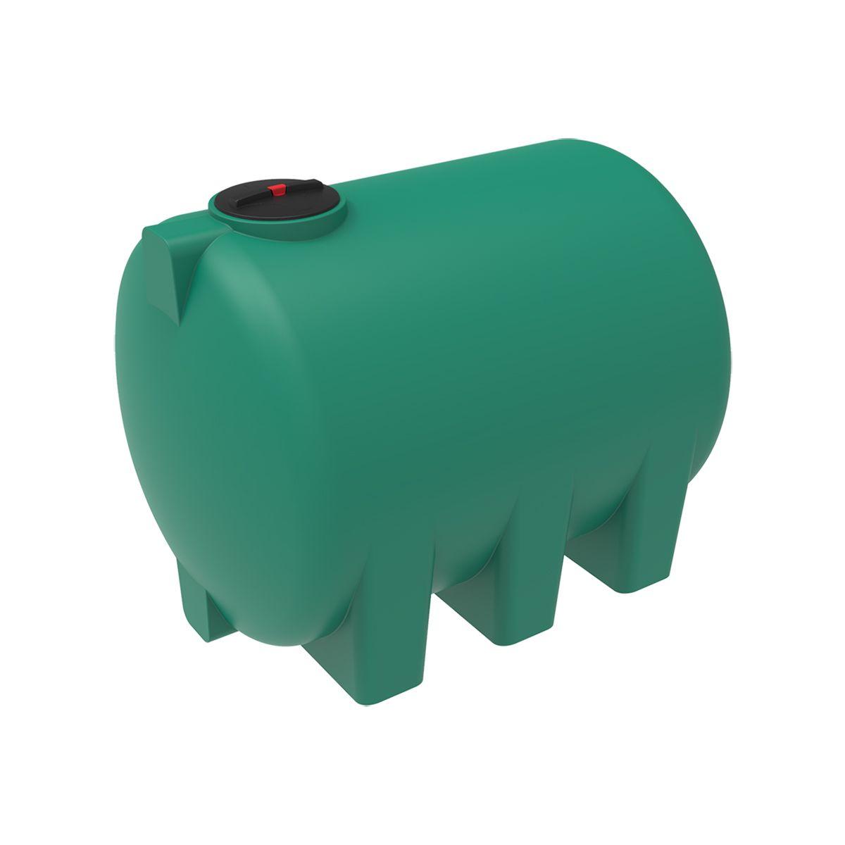 Емкость H 5000 литров с откидной крышкой зеленый