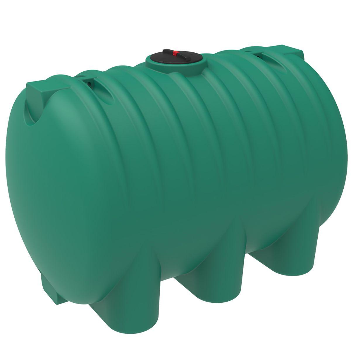 Емкость HR 8000 литров с откидной крышкой зеленый