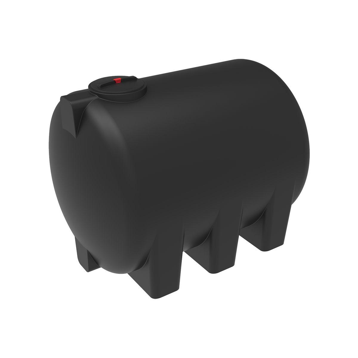 Емкость H 5000 литров с откидной крышкой черный