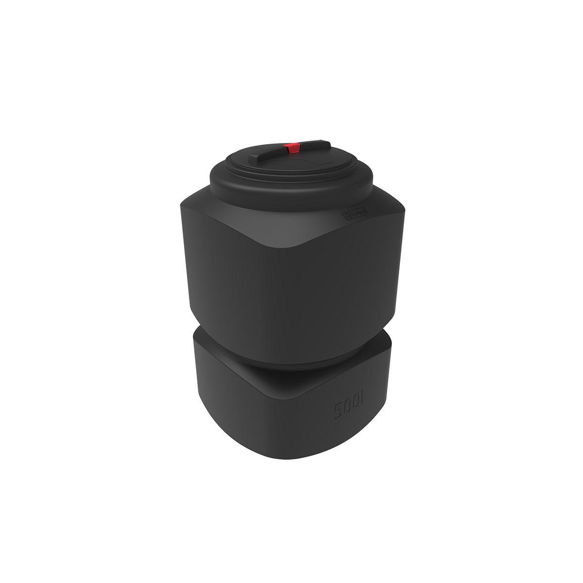 Емкость для воды L 500 литров черная пластиковая