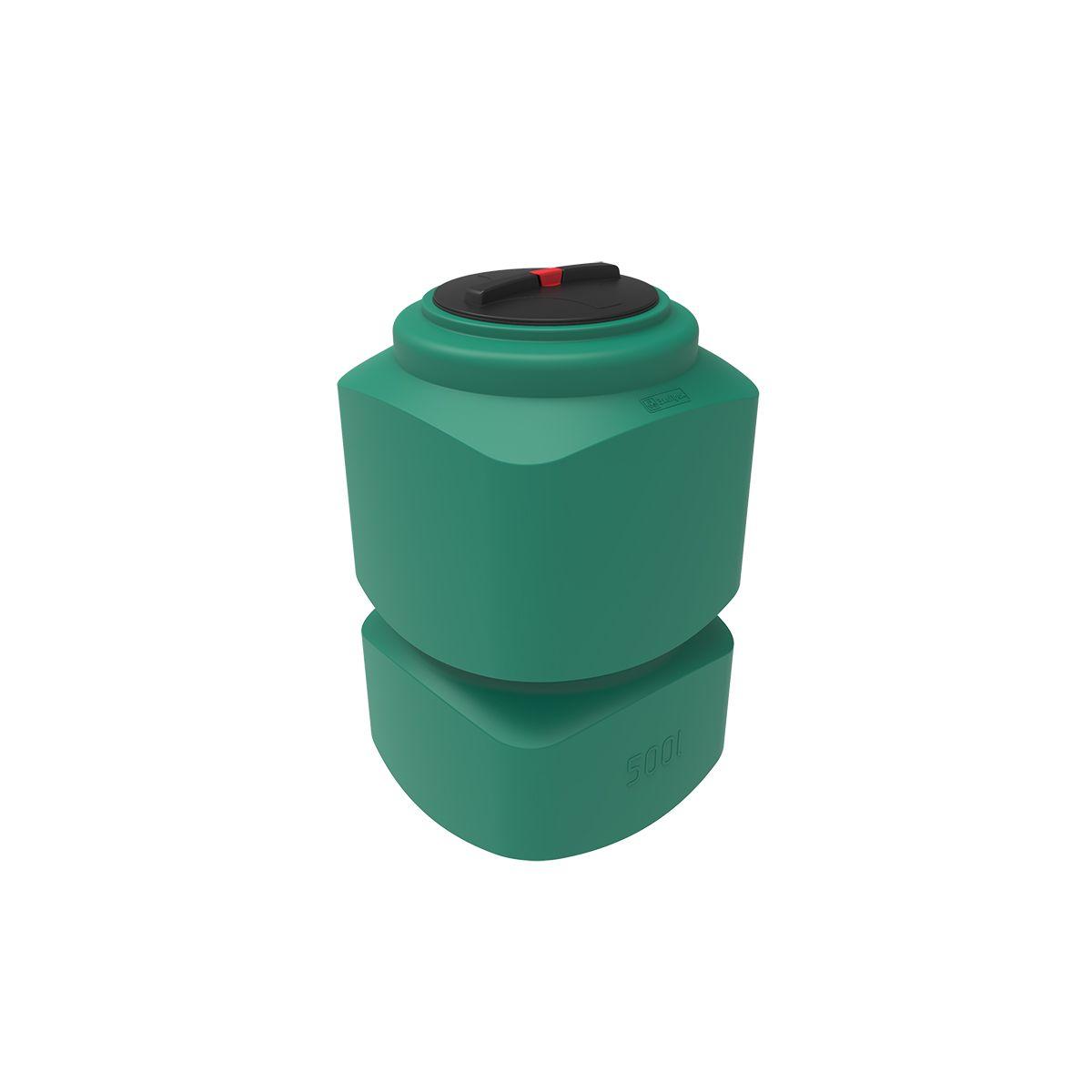 Емкость для воды L 500 литров зеленая пластиковая