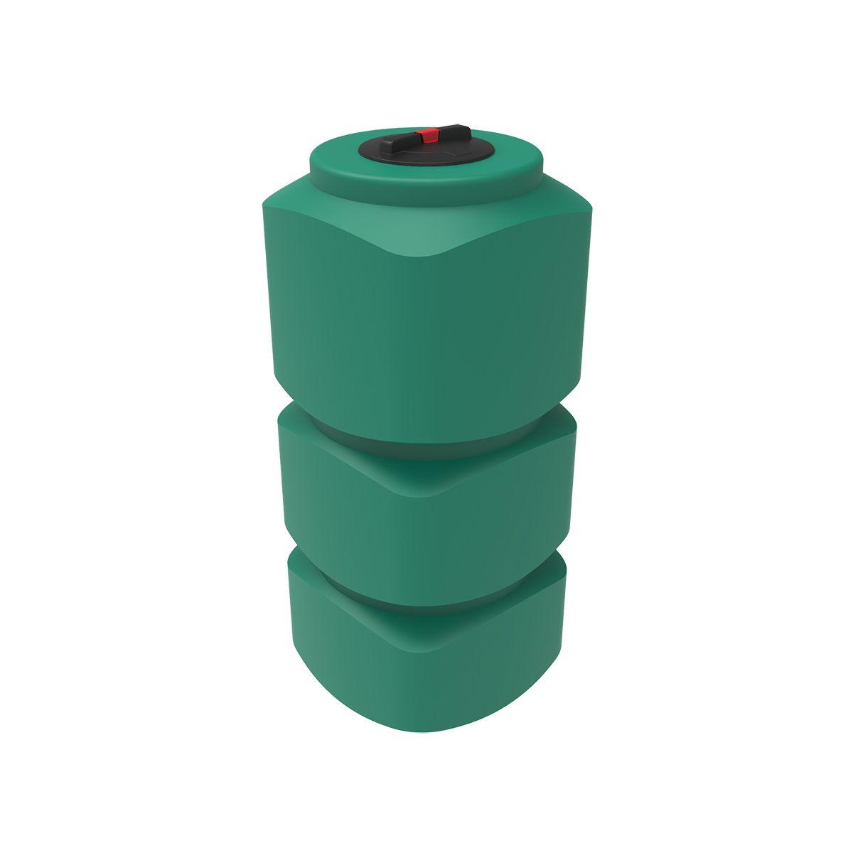 Бак для воды L 750 литров зеленый