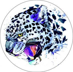 Вышивка крестиком «Леопард» 21x21.
