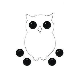Глазки не клеевые пластиковые, цвет черный, диаметр 8 мм (Baby's HS-02)