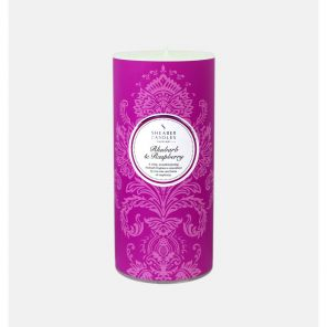 "Шотландская ароматическая свеча-колонна ""Реве́нь и Малина""  RHUBARB AND RASPBERRY PILLAR CANDLE"