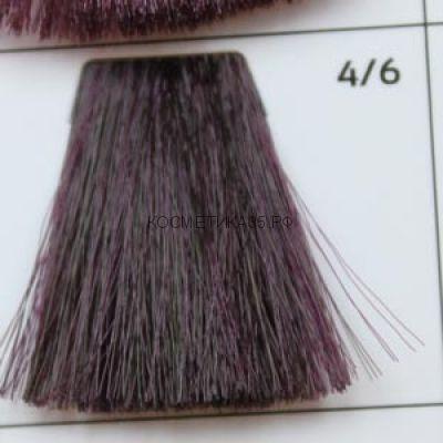 Крем краска для волос- 4/6 Шатен фиолетовый 100 мл. Brown violet Galacticos Professional Metropolis Color