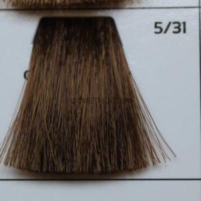 Крем краска для волос 5/31 Светлый Шатен золотисто-пепельный 100 мл.  Galacticos Professional Metropolis Color