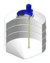 Емкость ФМ 500 в обрешетке с пропеллерной мешалкой