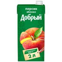 Нектар ДОБРЫЙ персик/яблоко, 2л