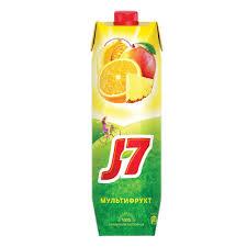 Нектар J7 Мультифрукт с мякотью, 0,97л