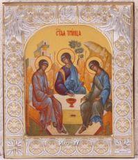Икона Святая Троица (9х10,5см)