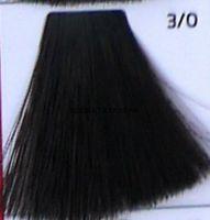 Крем краска для волос- 3/0 Тёмный шатен Dark brown  Galacticos Professional Metropolis Color