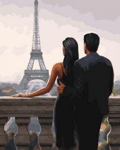 Картина по номерам «Свидание в Париже» 40x50 см