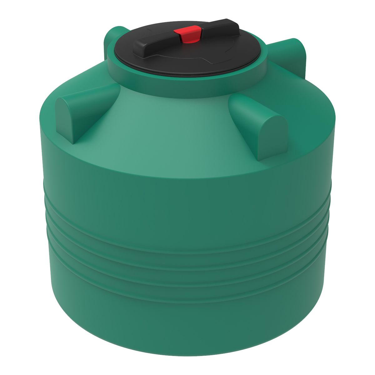 Бак для воды 200 литров ЭВЛ зеленый пластиковый