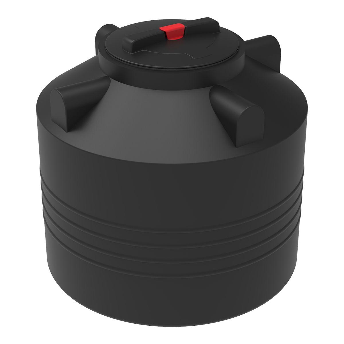 Бак для воды 200 литров ЭВЛ черный пластиковый