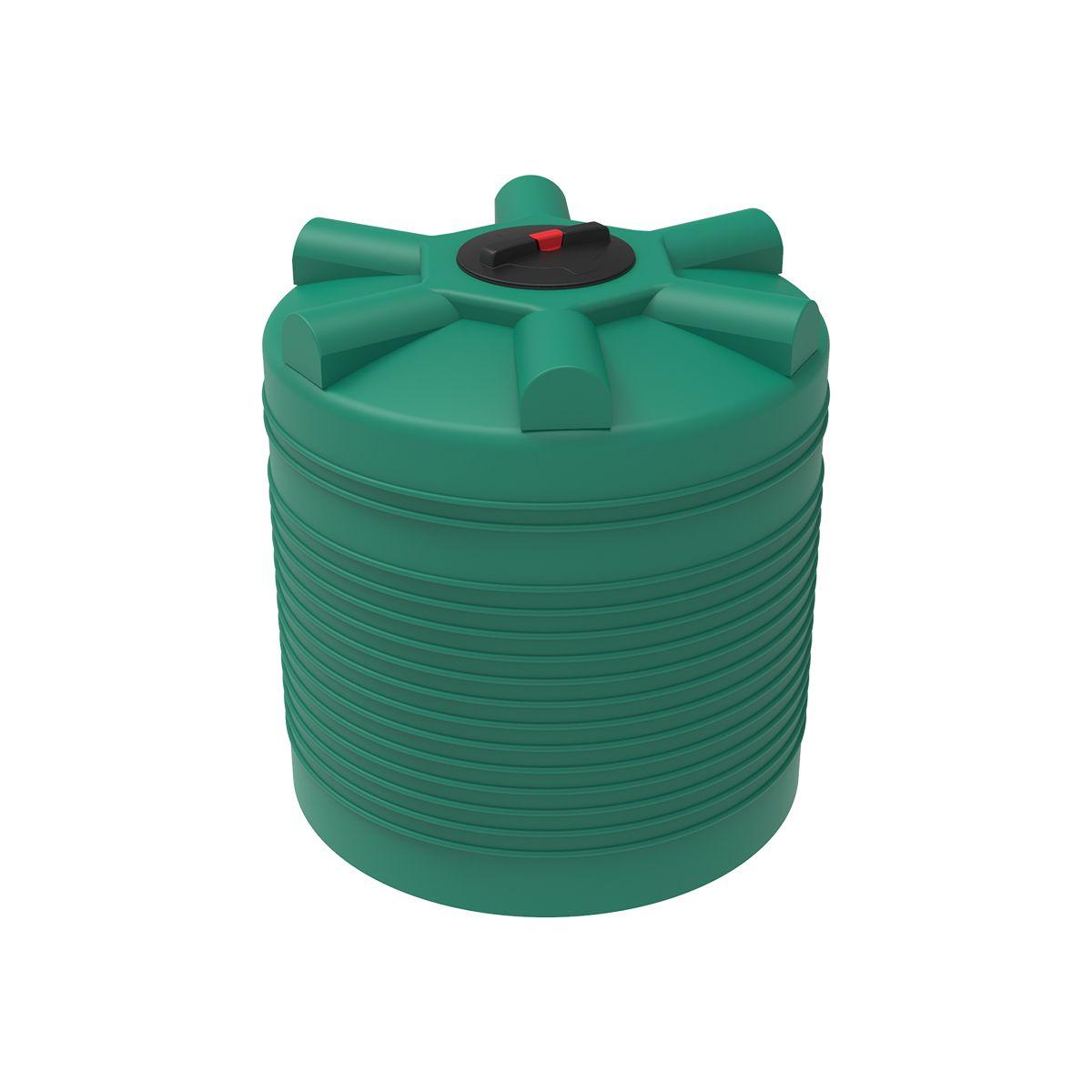 Бак для воды 1000 литров ЭВЛ зеленый пластиковый